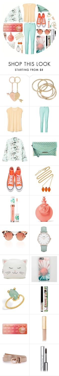 """""""New School, New Style* TS"""" by stormwlf ❤ liked on Polyvore featuring Accessorize, ABS by Allen Schwartz, Gap, Ralph Lauren, MANGO, Ampere Creations, Converse, BROOKE GREGSON, Sephora Collection and Valentino"""