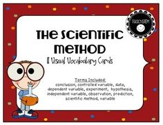 data, dependent variable, experiment, hypothesis, independent variable ...