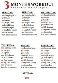 Summer Workout Schedule  Summer Workout Schedule Workout