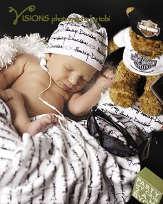 Newborn Photography, Harley Davidson, Motorcycles