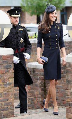 Kate Middleton in Alexander McQueen at Irish Guards Parade. I want that dress sooooooooo bad.