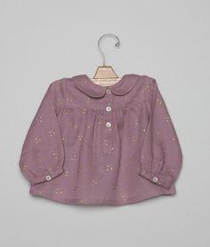 Camisa bebé rosa puntitos dorados | Nicoli