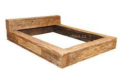 Forest - postel z masivu recyklovaného dřeva <BR> DŘEVĚNÉ POSTELE Z MASIVU