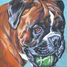 Boxer PRINT by Lee Ann Shepard - have her doing pieces for me!! SO excited!!