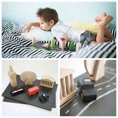 Gorgeous wooden City Playsets for kids featuring London, Paris, or your own city