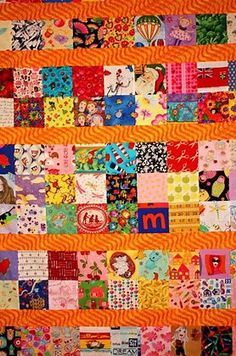 So here's my latest I Spy Quilt which will be a birthday gift for my niece. As you can see, this time I separated the blocks into rows. Boy Quilts, Scrappy Quilts, Shirt Quilts, Quilting Projects, Quilting Designs, Quilting Ideas, Sewing Projects, I Spy Quilt, Easy Quilt Patterns