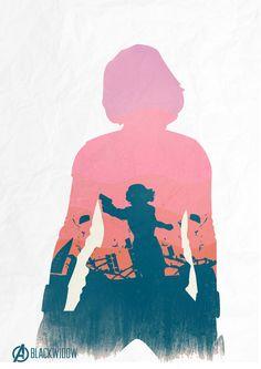 """Viúva Negra  Ilustrações """"fan-made"""" absurdamente fantásticas do filme Os Vingadores.    Black Widow  Awesome fan-made The Avengers movie illustrations."""