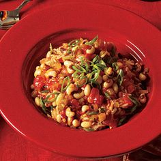 Vegetable Recipes for Kids | Hoppin' John's Cousin | CookingLight.com - Hoppin' John's Cousin -  Traditionally, Hoppin' John is served in the South at New Year's because the black-eyed peas represent coins—they're meant to herald prosperity in the coming year. Tell the kids that eating this dish will make them richer, and they're sure to bite. Our version, with all its veggies, is a fresher, healthier update.