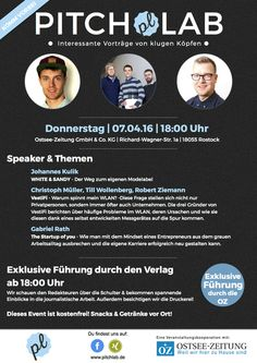 Next Date: 07.04.16 Pitchlab, Rostock // Vortrag: The Startup of You