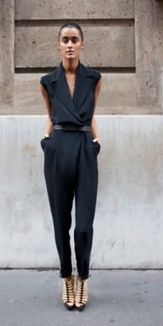 Great black jumpsuit(with different shoes though)