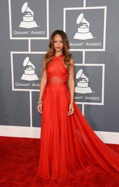 Rihanna Goes Sheer at the 2013 Grammys
