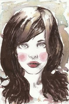 Ink & pencil girl