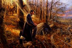 Lincoln prays for Thanksgiving, read his Proclamation of Thanksgiving at OutoftheCrabBucket.wordpress.com