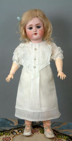 """""""Daisy"""" by Heinrich Handwerck 18"""" in All-Original Antique Costume -- from kathylibratysantiques on Ruby Lane"""