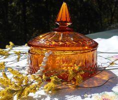 Vintage EAPG Indiana Glass Amber Glass Princess by DoodahsAttic, $14.00