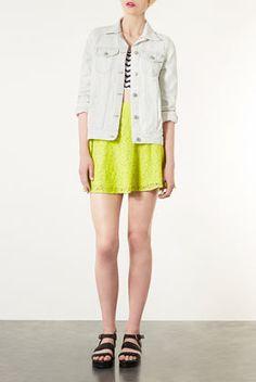 Lime Lace Skater Skirt