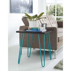 Retro End Table Accent Sofa Bed Side Nightstand Tables Living Room Furniture New #Altra #Retro