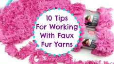 Fiber Flux: 10 Tips for Using Faux Fur Yarns Crochet Yarn, Knitting Yarn, Free Crochet, Crochet Stitches, Yarn Projects, Knitting Projects, Crochet Designs, Crochet Patterns, Stitch Patterns