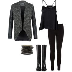 A fashion look from January 2014 featuring racer back tank, faux leather jacket and skinny pants. Browse and shop related looks. Faux Leather Jackets, Skinny Pants, Outfit Of The Day, Fashion Looks, Outfits, Image, Shopping, Style, D Day