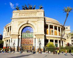 Sicily, Italy, Europe: The Theatre Politeama Garibaldi in Palermo ...