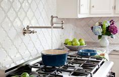 Beyond Tile: 25 Truly Beautiful Kitchen Backsplashes via Brit + Co