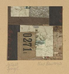 blastedheath:Kurt Schwitters (German, Mz 26 Sprengel, Collage on card laid down on the artist's mount. Image: x 10 cm.via justanothermasterpiece Art Works, Geometric Art, Kurt Schwitters, Assemblage Art, Art, Collage Artists, Collage Art, Abstract, Altered Art