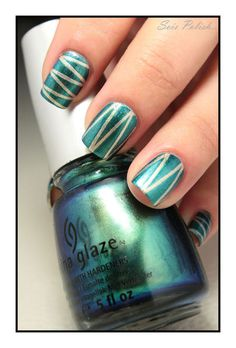 Deviantly Daring - China Glaze // Striping tape nails @Elle_Oh_Die