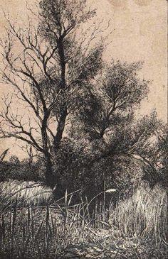 """""""AZ ECSÉR I.-CSATORNA MELLÉKE I"""" (Miniatura, MMXII; Tus, karton; 14 X 9 cm)"""