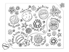 girl scout cookies coloring pages photo 1