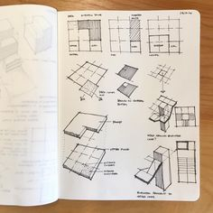 Sometimes the design process is like figuring out one of those sliding tile… Architecture Student Portfolio, Architecture Drawing Sketchbooks, Architecture Panel, Architecture Design, Classical Architecture, Interior Design Sketches, Sketch Design, Design Art, Architecture Presentation Board