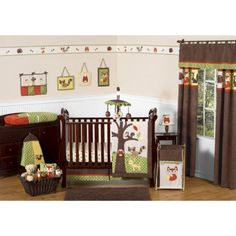 Sweet Jojo Designs 11pc Forest Friends Crib Set...love the little deer and foxy!