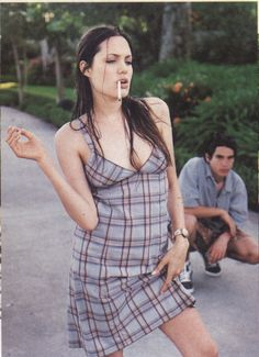 Angelina Jolie photographed by Bettina Rheims for Details in 1994