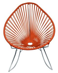 Innit Designs Acapulco Rocking Chair, Chrome Frame with Orange Weave Innit Designs,http://www.amazon.com/dp/B00BRH9EMU/ref=cm_sw_r_pi_dp_sKb4sb00RC79QKP8