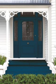 Teal front doors, front door colors, teal door, front doors with Teal Front Doors, Teal Door, Front Door Entryway, Front Doors With Windows, Painted Front Doors, Front Door Colors, Blue Doors, Exterior Stairs, House Paint Exterior