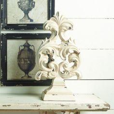 Decorative Rustic Pedestal Scroll Finial