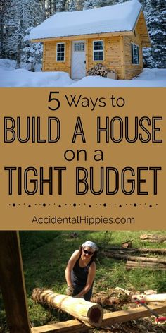 natural building Building a house on a tight budget can be daunting, but there are some simple ways to do it. Is there a particular method that is cheapest to build with Is it always cheaper to build with a natural building method Read here to find out. Building A Small House, Building A Cabin, Build Your House, Building Ideas, Build A Home, Building Concept, Boat Building, Building Materials, Tiny House Cabin