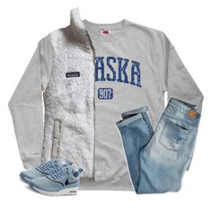 Untitled #1756 by southernstruttin on Polyvore featuring Patagonia, American Eagle Outfitters and NIKE