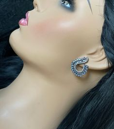 Designer AD black Rhodium finished stud Earrings / CZ Statement earrings / Earrings/ Bollywood celebrity earring/ stud earrings Peacock Earrings, Jhumki Earrings, Bridal Earrings, Stud Earrings, Product Life, Imitation Jewelry, Black Rhodium, Temple Jewellery, Bollywood Celebrities