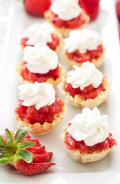 No Bake Strawberry Pie Bites