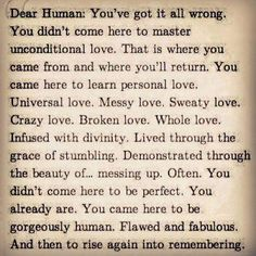 Be fully human, its what we are. facebook.com/loveswish