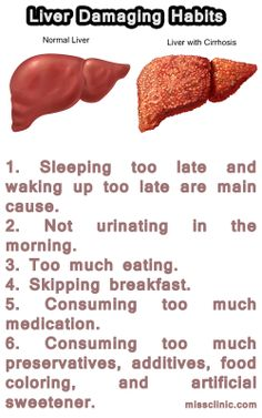 Causes of Liver Damage. Good thing your liver can repair itself