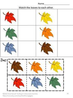 Math Literacy, Kindergarten Math, Fall Preschool, Preschool Activities, Physical Activities, Special Education Math, Physical Education, Cut And Paste Worksheets, Autism Resources