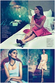 Capa e recheio: Olivia Palermo by Andoni & Arantxa for Elle Ukraine April 2012