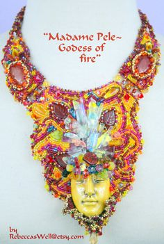 Hey, I found this really awesome Etsy listing at https://www.etsy.com/listing/178401100/madame-pele-godess-of-fire-bead