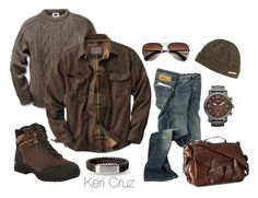 """Men's Winter Fashion"" by keri-cruz ❤ liked on Polyvore featuring moda, Vibram FiveFingers, Dolce&Gabbana, FOSSIL, Ray-Ban e Polo Ralph Lauren"