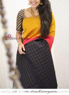 Fashion ideas for teachers blouses 63 ideas Indian Silk Sarees, Soft Silk Sarees, Chiffon Saree, Cotton Saree, Kerala Saree, Silk Saree Kanchipuram, Kanjivaram Sarees, Silk Saree Blouse Designs, Blouse Neck Designs