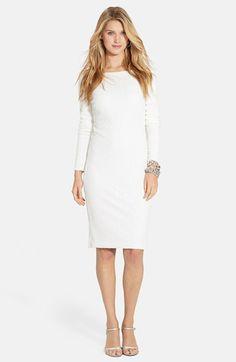 Free shipping and returns on Lauren Ralph Lauren Sequin Mesh Sheath Dress  at Nordstrom.com