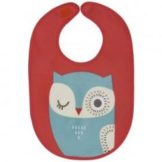 Danica Studios Bib -hoot Phthalate free PVC cover over cotton fabric (oilcloth). Repels water and other liquids. Easily cleaned after eating.