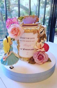 Floral Alice in Wonderland Cake by Sihirli Pastane