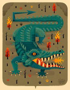 Animals on Pantone Canvas Gallery Tibet Art, Cities, Bird Prints, Various Artists, Game Design, Digital Illustration, Pantone, Illustrations Posters, Poster Prints